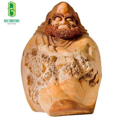Hình ảnh: Tượng gỗ Đạt Ma ngồi thiền