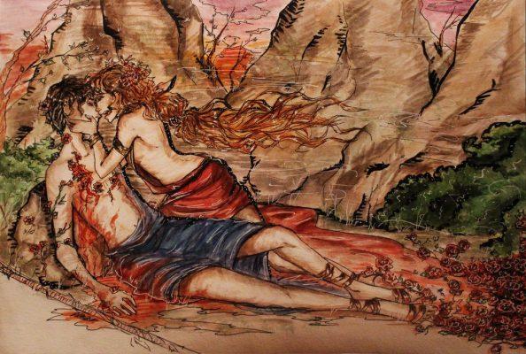 Aphrodite Bên Cạnh Người Yêu Adonis Lúc Sắp Chết