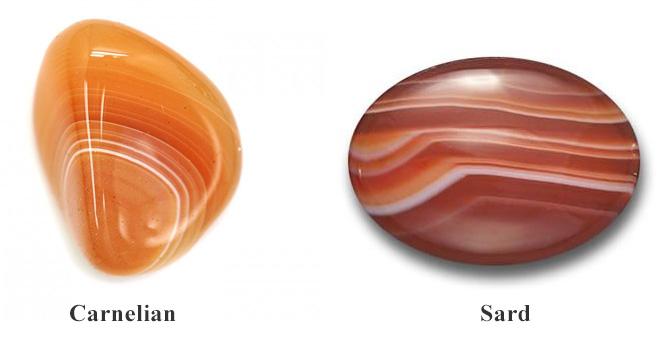 Phân biệt đá carnelian với sard