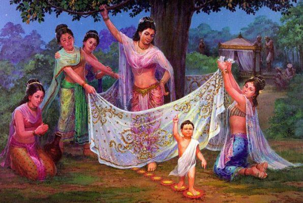 Phật Thích ca chào đời