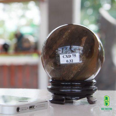 QUẢ CẦU PHONG THỦY ĐÁ CANXEDON 0.32 KG