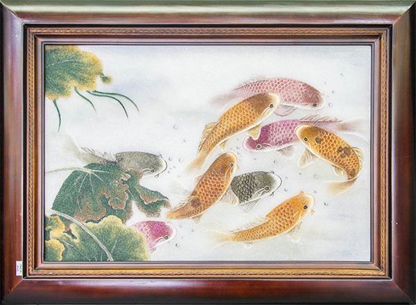 Ý nghĩa của cá chép vượt vũ môn trong tranh ảnh, hội họa phong thủy