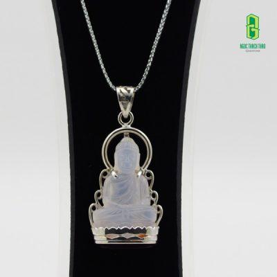 Mặt dây chuyền Phật thích ca đá Mã não