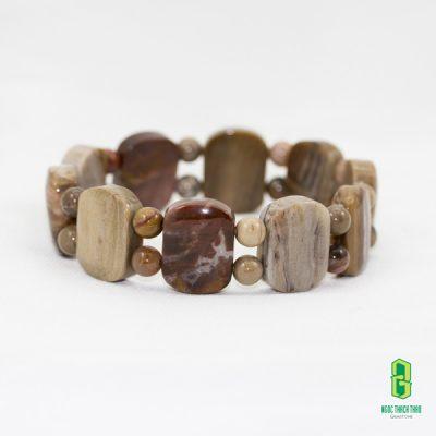 Vòng tay gỗ hóa thạch dẹp