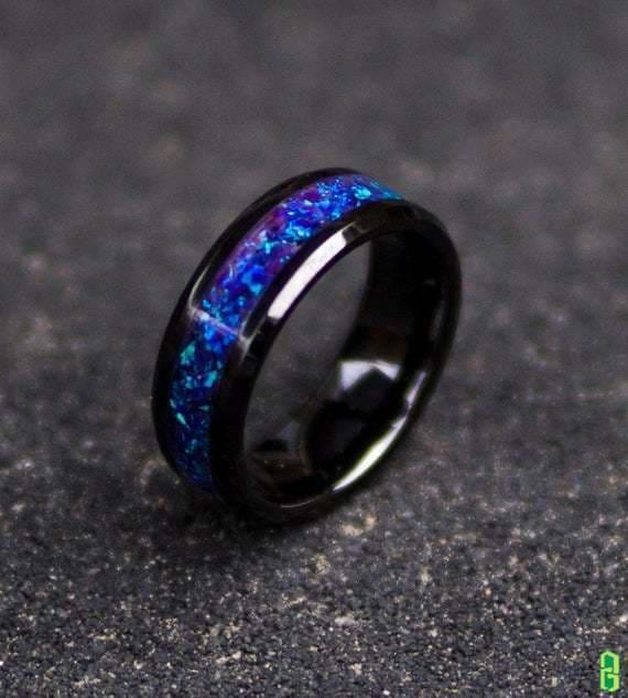 Nhẫn đá opal trang sức phong thủy cao cấp
