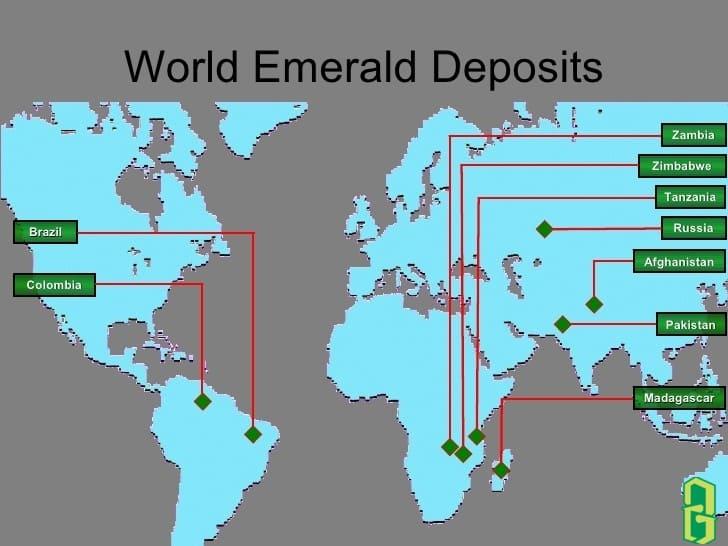 Nguồn gốc nơi khai thác các mỏ đá emerald