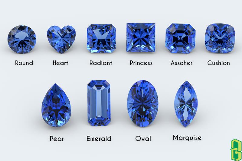 Hình dạng và kiểu cắt phổ biến đá sapphire