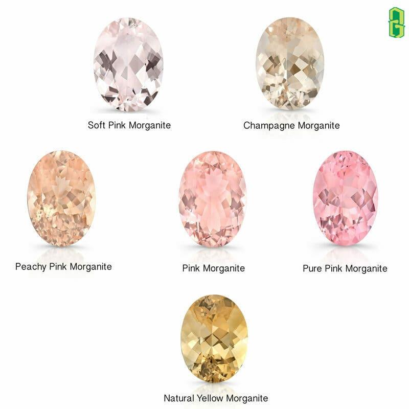 Màu sắc của đá morganite - beryl hồng