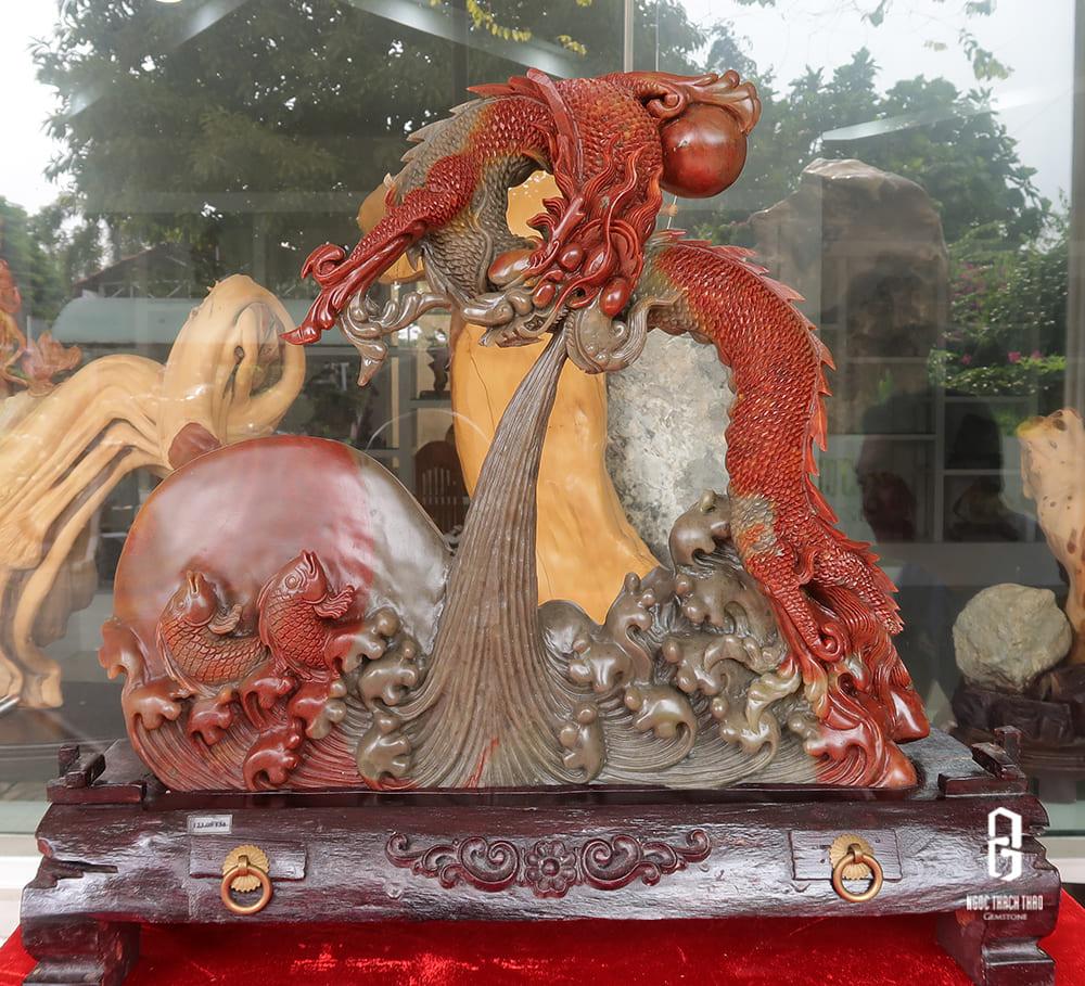 Tượng Cá Chép Hóa Rồng Đá Thọ Sơn